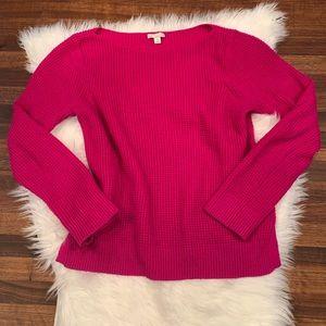 GAP Fuchsia/Magenta Waffle Knit Sweater